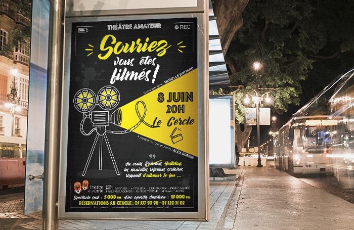 Graphiste freelance | Création affiche Théâtre à la carte